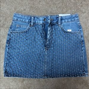 Top shop denim sequin skirt